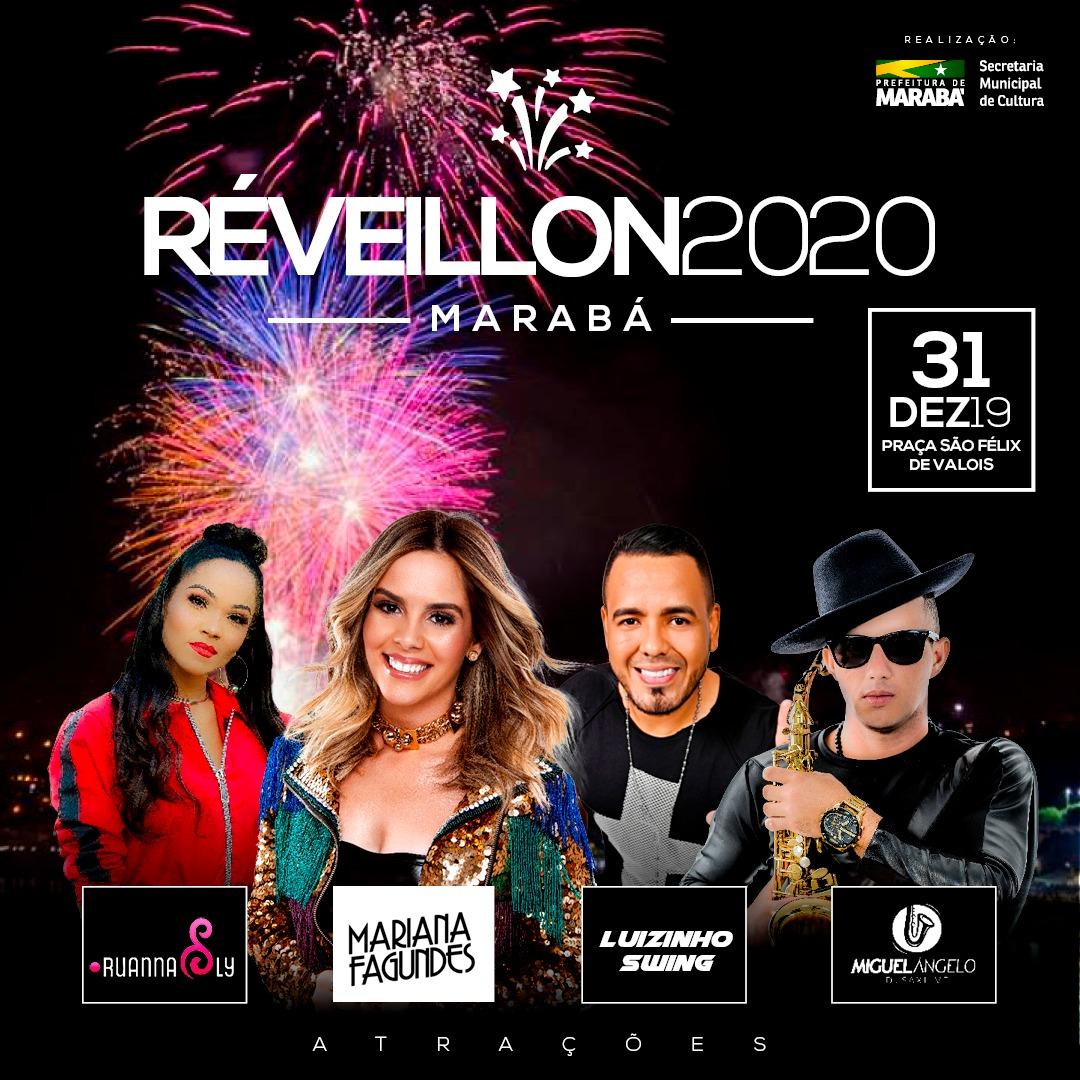 Réveillon de Marabá terá atração nacional, artistas locais e 20 minutos de show pirotécnico