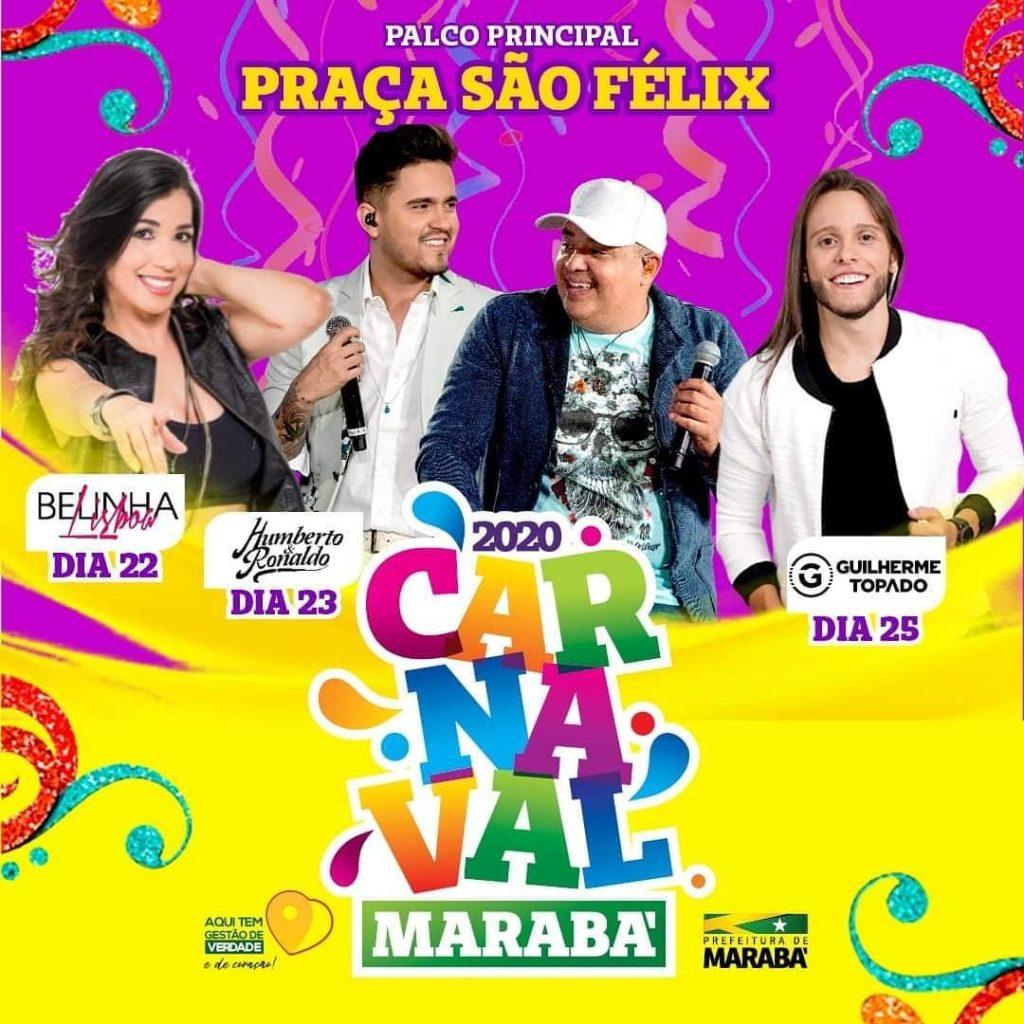 Confira a programação de Carnaval 2020 em Marabá