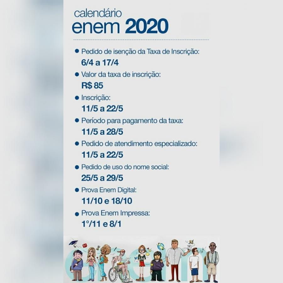 Candidatos já podem pedir isenção da taxa do Enem 2020