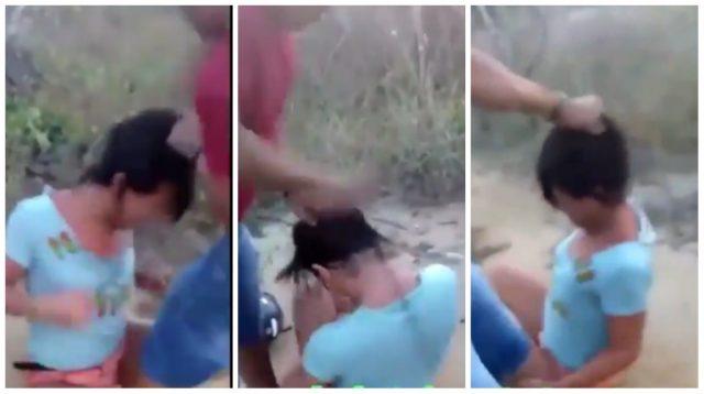 Vídeo: travesti é chicoteada por gravar vídeo tomando cerveja