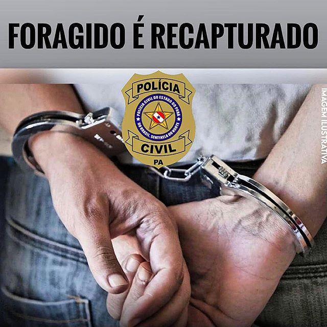 """Polícia Civil de Marabá recaptura """"Branquinho"""" foragido do CRRAMA"""