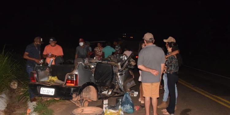 4 integrantes de uma família morrem em acidente em São Domingos do Araguaia