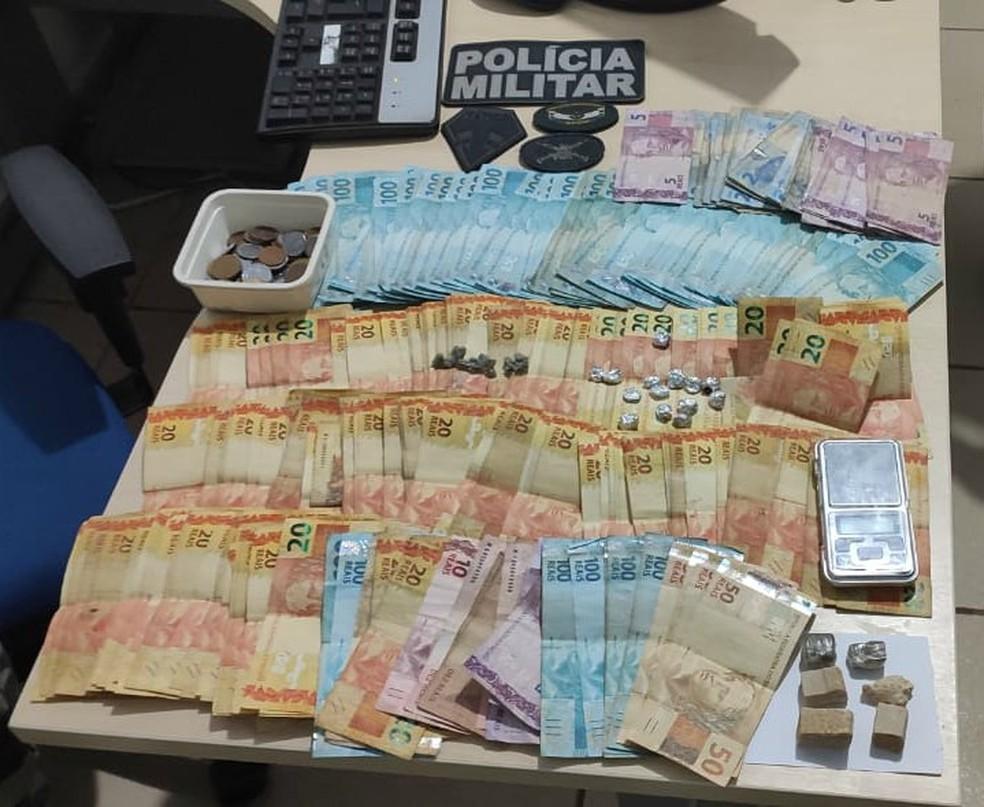Trio suspeito de tráfico de drogas é preso com maconha, oxi e R$11 mil em Tomé-Açu