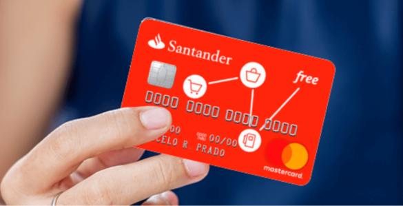 Nova ação Santander tem cartão de crédito para score baixo