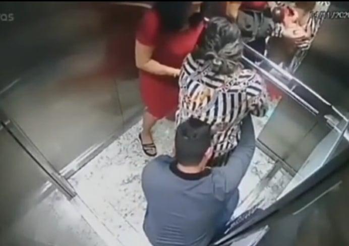 Mulher deu à luz em elevador de prédio; Veja vídeo