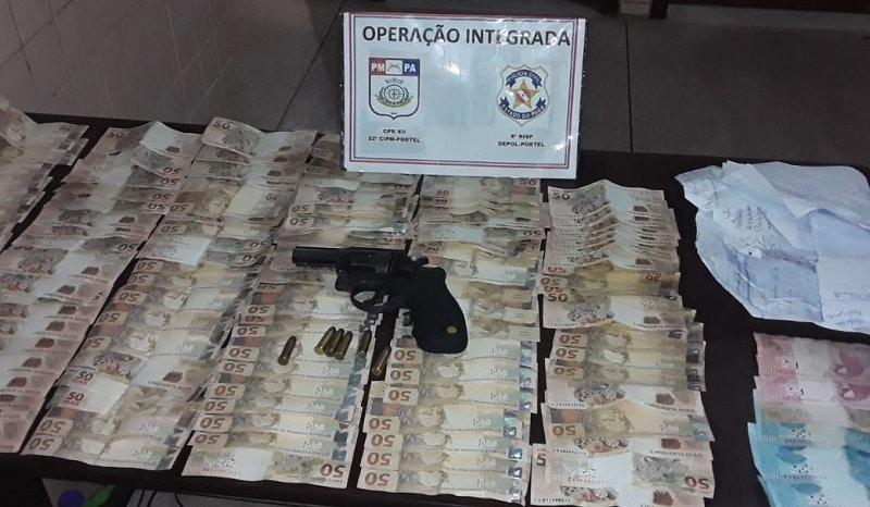 Operação apreende dinheiro e revólver na casa de candidato a prefeito, no Pará