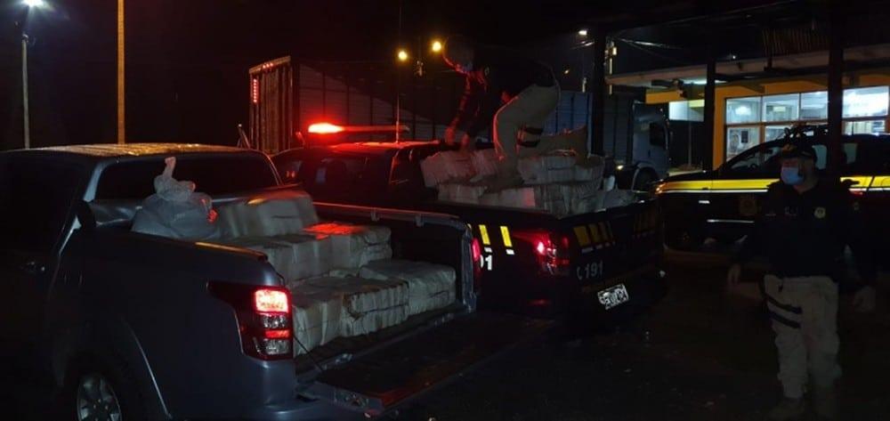 Caminhão carregado com mais de 01 ton de maconha é apreendido pela PRF