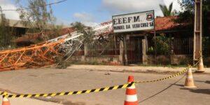 Queda de torre deixa quatro vítimas, no Marajó