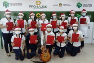 Coral de Natal emociona pacientes no Hospital Regional do Sudeste do Pará