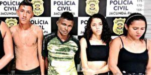 Quarteto é preso vendendo drogas no cartão, em Jacundá