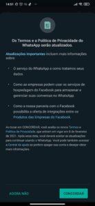 WhatsApp avisa que irá compartilhar dados dos usuários com o Facebook