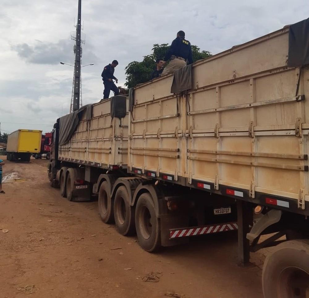 PRF apreende mais de 140 comprimidos de anfetamina com caminhoneiro em Marabá