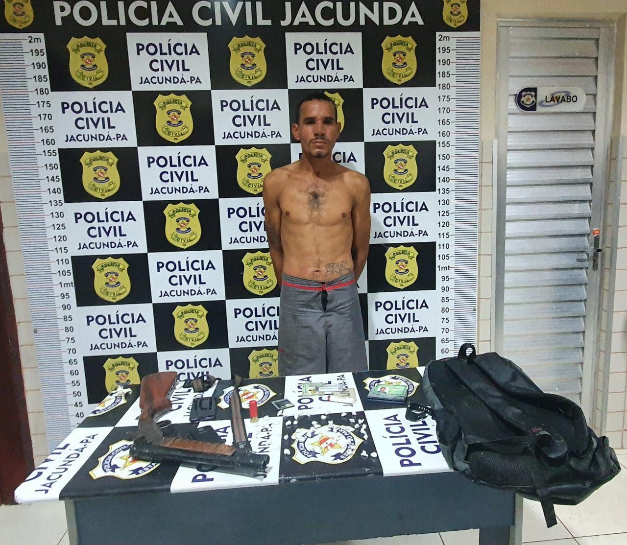 Polícia prende homem que atirou contra viatura, em Jacundá