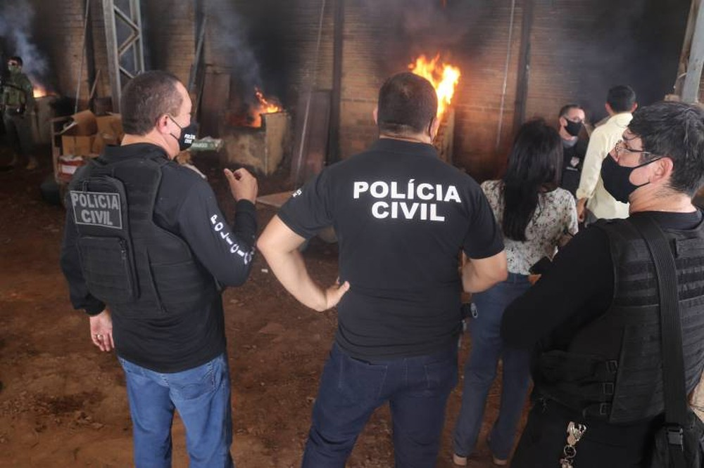 Polícia Civil incinera cerca de 2 ton de drogas