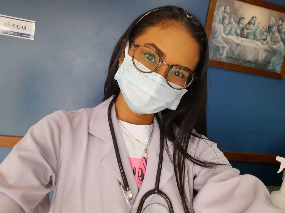 Rebeka Fonseca é enfermeira em Rurópolis, no Pará — Foto: Rebeka Fonseca/Arquivo Pessoal