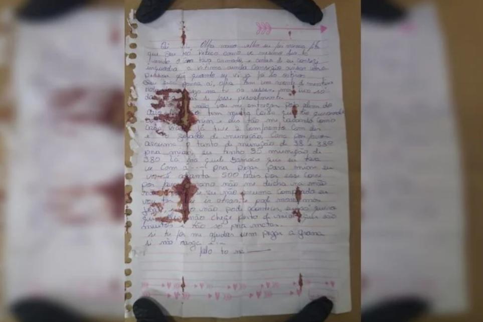 Policia divulga a carta escrita por Lázaro antes de morrer